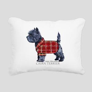 Cairn Terrier Holiday Rectangular Canvas Pillow