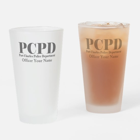 Gray Name Port Charles PD Drinking Glass