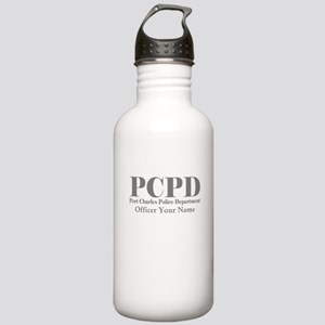 Gray Name Port Charles PD Water Bottle