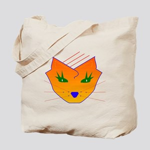 Orange Cat Face Tote Bag
