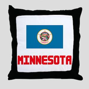 Minnesota Flag Design Throw Pillow