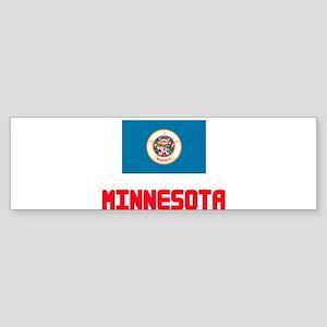 Minnesota Flag Design Bumper Sticker