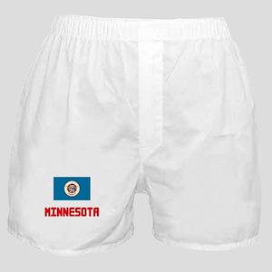 Minnesota Flag Design Boxer Shorts