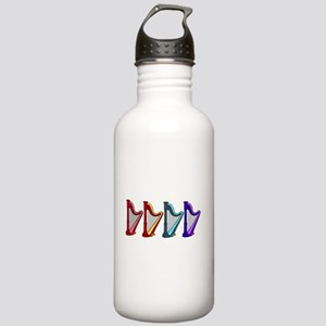 rainbow harps.gif Stainless Water Bottle 1.0L