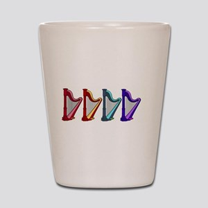 rainbow harps Shot Glass