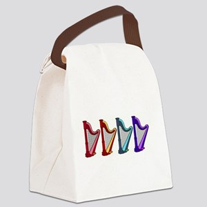 rainbow harps Canvas Lunch Bag