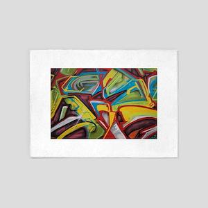 Colors vibrant graffiti art 5'x7'Area Rug