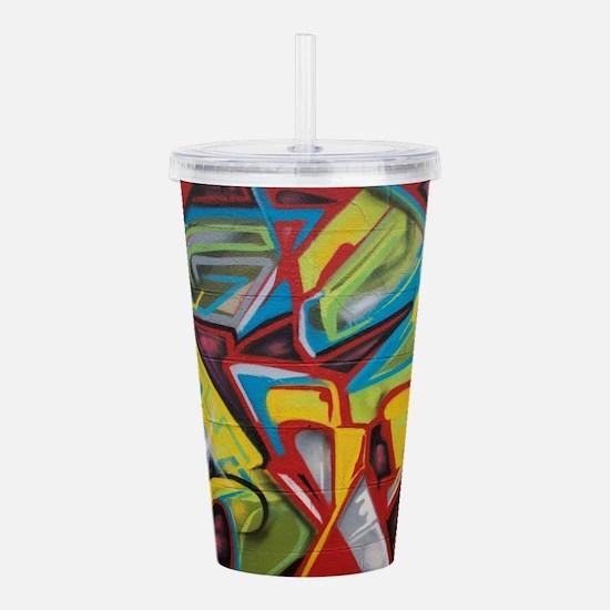 Colors vibrant graffit Acrylic Double-wall Tumbler