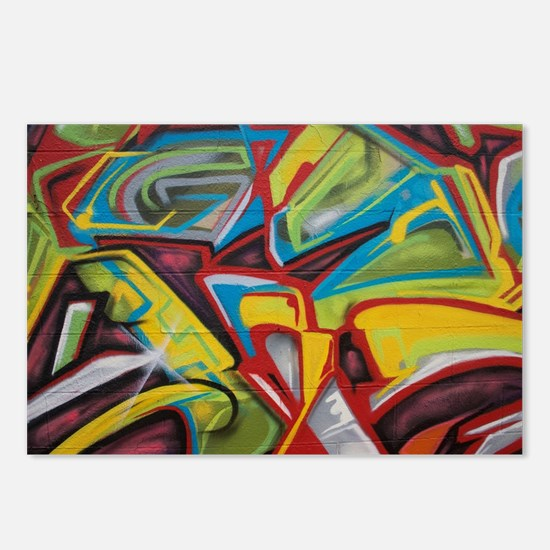 Colors vibrant graffiti a Postcards (Package of 8)