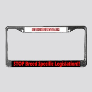 Red Stop BSL License Plate Frame