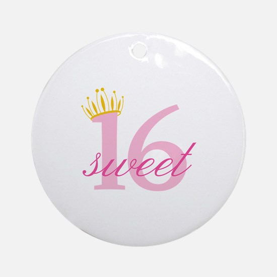 Sweet Sixteen Ornament (Round)