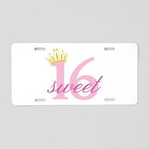 Sweet Sixteen Aluminum License Plate
