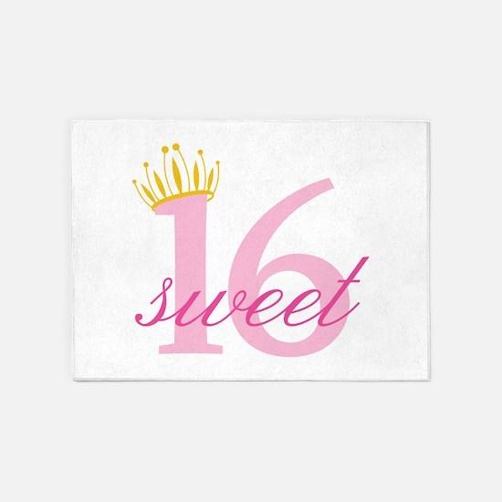 Sweet Sixteen 5'x7'Area Rug