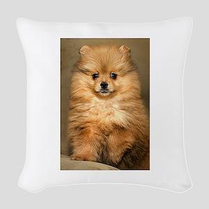 pomeranian Woven Throw Pillow
