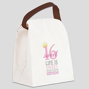 Sweet Sixteen Canvas Lunch Bag