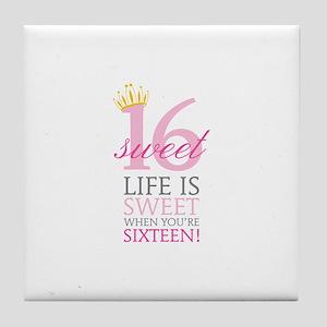 Sweet Sixteen Tile Coaster