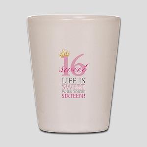 Sweet Sixteen Shot Glass