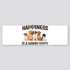 WARM PUPPIES Bumper Sticker