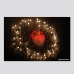 Silver Ring Fireworks Postcards (Package of 8)