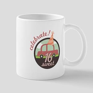 Celebrate Sweet Sixteen Mugs