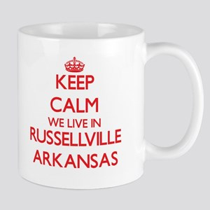 Keep calm we live in Russellville Arkansas Mugs