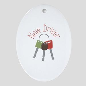 New Driver Ornament (Oval)