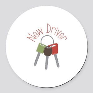 New Driver Round Car Magnet