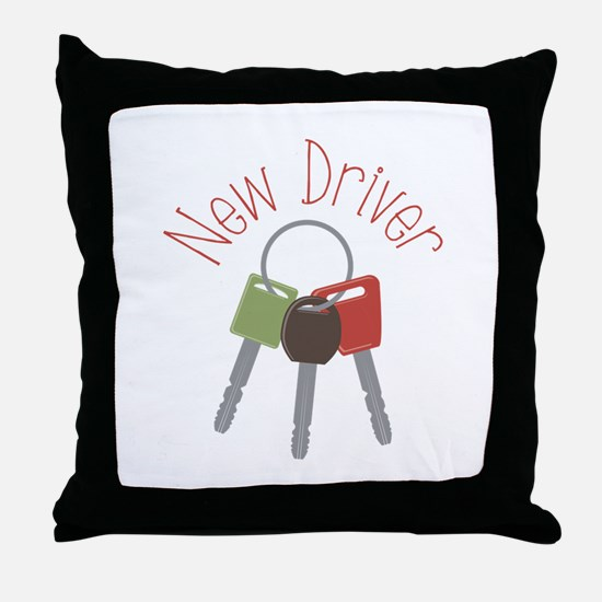 New Driver Throw Pillow