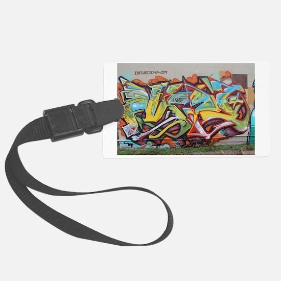 Color Graffiti Luggage Tag