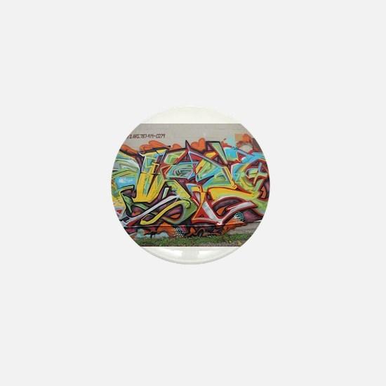 Color Graffiti Mini Button