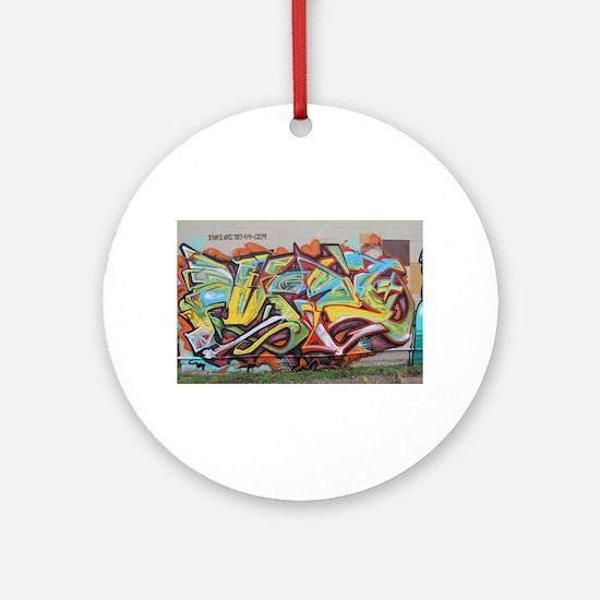 Color Graffiti Ornament (Round)
