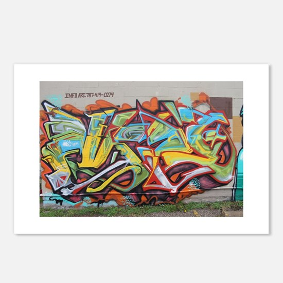 Color Graffiti Postcards (Package of 8)