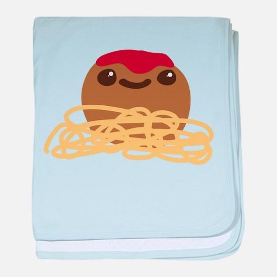 Cute Meatball and Spaghetti baby blanket