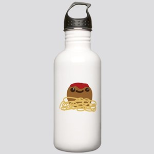 Cute Meatball and Spag Stainless Water Bottle 1.0L