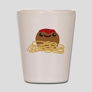 Cute Meatball and Spaghetti Shot Glass