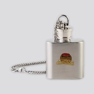 Cute Meatball and Spaghetti Flask Necklace