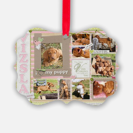 Cute Hungarian wirehaired vizsla Ornament