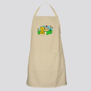 Cat In Front Of House Apron