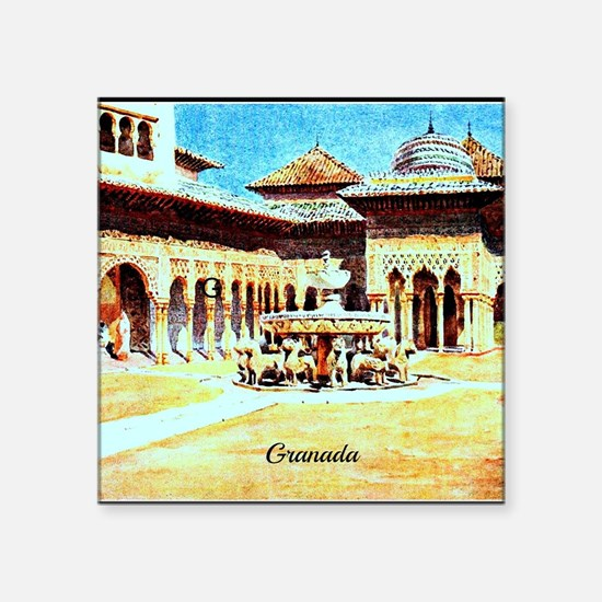 "GRANADA Square Sticker 3"" x 3"""