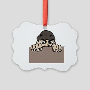 CRIMINAL ACTIVITY Ornament