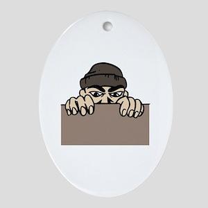 CRIMINAL ACTIVITY Ornament (Oval)