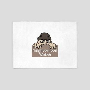 NEIGHBORHOOD WATCH 5'x7'Area Rug