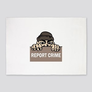 REPORT CRIME 5'x7'Area Rug