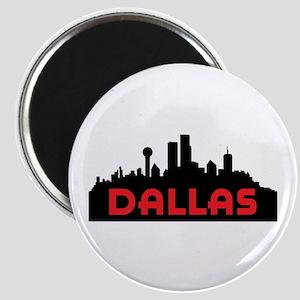 DALLAS TX SKYLINE Magnets