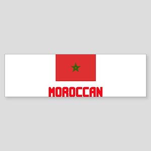 Moroccan Flag Design Bumper Sticker