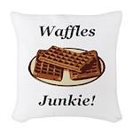 Waffles Junkie Woven Throw Pillow