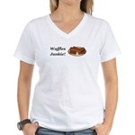 Waffles Junkie Women's V-Neck T-Shirt