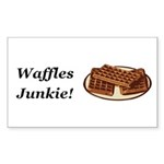 Waffles Junkie Sticker (Rectangle 50 pk)