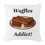 Waffles Addict Woven Throw Pillow