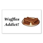 Waffles Addict Sticker (Rectangle 50 pk)